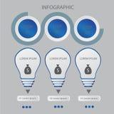 Абстрактный шаблон вариантов номера infographics также вектор иллюстрации притяжки corel смогите быть использовано для плана пото Стоковое фото RF