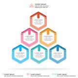 Абстрактный шаблон infographics, наслоенная диаграмма диаграммы пирамиды, концепция infographic, иллюстрация дела вектора Стоковое Фото