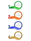 Абстрактный шаблон вариантов номера infographics Стоковые Фотографии RF