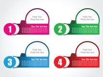 Абстрактный шаблон вариантов номера infographics Стоковое Фото