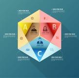 Абстрактный шаблон вариантов infographics дела Стоковое Фото