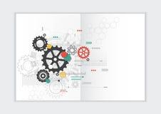 Абстрактный шаблон годового отчета предпосылки, геометрическая крышка брошюры дела дизайна треугольника Стоковое Изображение RF
