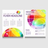 Абстрактный шаблон дизайна брошюры или рогульки Стоковое Фото