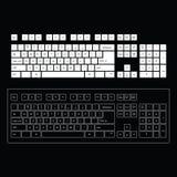 Абстрактный шаблон клавиатуры компьютера Стоковое Фото