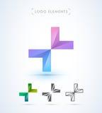 Абстрактный шаблон логотипа стиля origami письма x Значок применения Стоковые Фотографии RF
