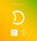 Абстрактный шаблон логотипа стиля origami письма d Значок применения Стоковое фото RF