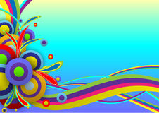 Абстрактный шаблон фестиваля цвета предпосылки Стоковые Изображения RF