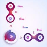 Абстрактный шаблон infographic Стоковая Фотография