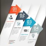Абстрактный шаблон infographics стрелки. Стоковые Изображения RF
