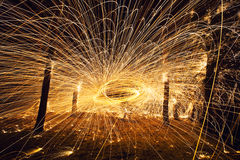 Абстрактный шар огня стоковые изображения rf