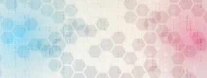абстрактный шестиугольник предпосылки Дизайн технологии полигональный Digita Стоковое фото RF