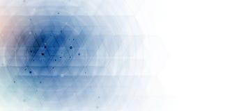 абстрактный шестиугольник предпосылки Дизайн технологии полигональный Digita Стоковые Фотографии RF
