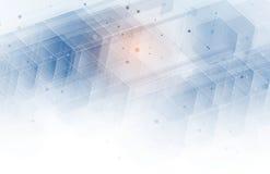 абстрактный шестиугольник предпосылки Дизайн технологии полигональный Digita Стоковые Изображения RF