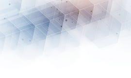 абстрактный шестиугольник предпосылки Дизайн технологии полигональный Digita Стоковое Изображение RF