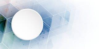 абстрактный шестиугольник предпосылки Дизайн технологии полигональный Digita Стоковая Фотография RF