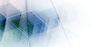 абстрактный шестиугольник предпосылки Дизайн технологии полигональный Digita