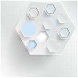 Абстрактный шестиугольник предпосылки Паутина и конструкция Стоковое Изображение