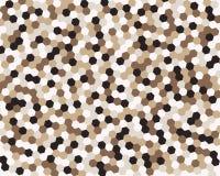 Абстрактный шестиугольник предпосылки также вектор иллюстрации притяжки corel Стоковые Изображения
