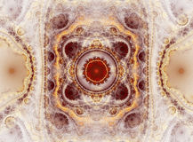 абстрактный шнурок фрактали Стоковые Изображения