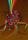 абстрактный шоколад в стиле фанк Стоковые Фотографии RF