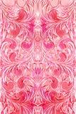 абстрактный экзотический пинк flourishes Стоковые Фото