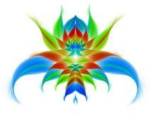 Абстрактный экзотический цветок на белой предпосылке Стоковая Фотография