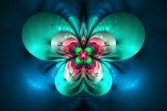 Абстрактный экзотический цветок на черной предпосылке Стоковая Фотография RF