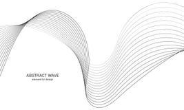 Абстрактный элемент волны для дизайна Выравниватель следа частоты цифров Стилизованная линия предпосылка искусства также вектор и Стоковые Изображения RF