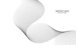 Абстрактный элемент волны для дизайна Выравниватель следа частоты цифров Стилизованная линия предпосылка искусства также вектор и Стоковое Изображение RF