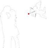 абстрактный эрот предпосылки Стоковое Фото