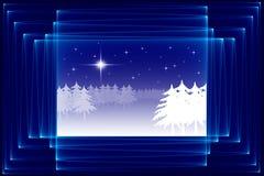 абстрактный эскиз рождества Стоковые Изображения RF