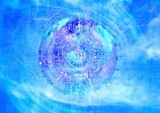 Абстрактный электрический контур Стоковое Фото