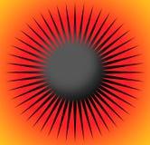 Абстрактный элемент дизайна с радиальными линиями Круглая форма иллюстрация штока