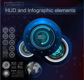 Абстрактный элемент интерфейса hud Виртуальная предпосылка дизайна также вектор иллюстрации притяжки corel Стоковое Фото