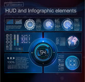 Абстрактный элемент интерфейса hud Виртуальная предпосылка дизайна также вектор иллюстрации притяжки corel Стоковые Фото