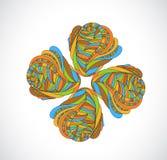 Абстрактный элемент орнамента Стоковая Фотография RF