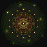 Абстрактный яркий накаляя светлый круг иллюстрация вектора