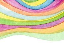 Абстрактный acrylic, акварель покрасил предпосылку Стоковая Фотография RF