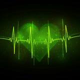 Абстрактный cardiogram иллюстрация вектора