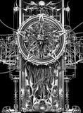 абстрактный cyborg предпосылки иллюстрация вектора