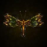 абстрактный dragonfly Стоковое Фото