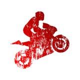 Абстрактный grungy всадник мотоцикла Стоковая Фотография RF