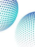 абстрактный halftone предпосылки Стоковое Изображение RF