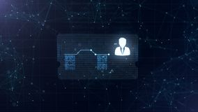 Абстрактный hologram Визитная карточка со знаком дротиков, шестерн-колеса и некоторых других диаграмм Абстрактная голубая предпос бесплатная иллюстрация