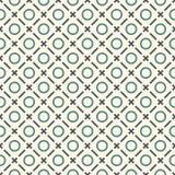 абстрактный minimalist предпосылки Простая печать с мини крестами, кольцами и раскосными линиями геометрическая картина безшовная иллюстрация штока