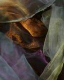 Абстрактный organza предпосылки волны Стоковые Изображения