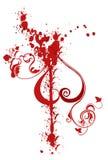 абстрактный spatter красного цвета картины Стоковое Фото