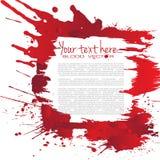 Абстрактный splatter крови изолированный на белой предпосылке, Бесплатная Иллюстрация