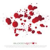 Абстрактный splatter крови изолированный на белой предпосылке, des Иллюстрация штока
