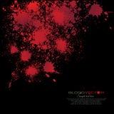 Абстрактный splatter крови изолированный на черной предпосылке, des Иллюстрация вектора